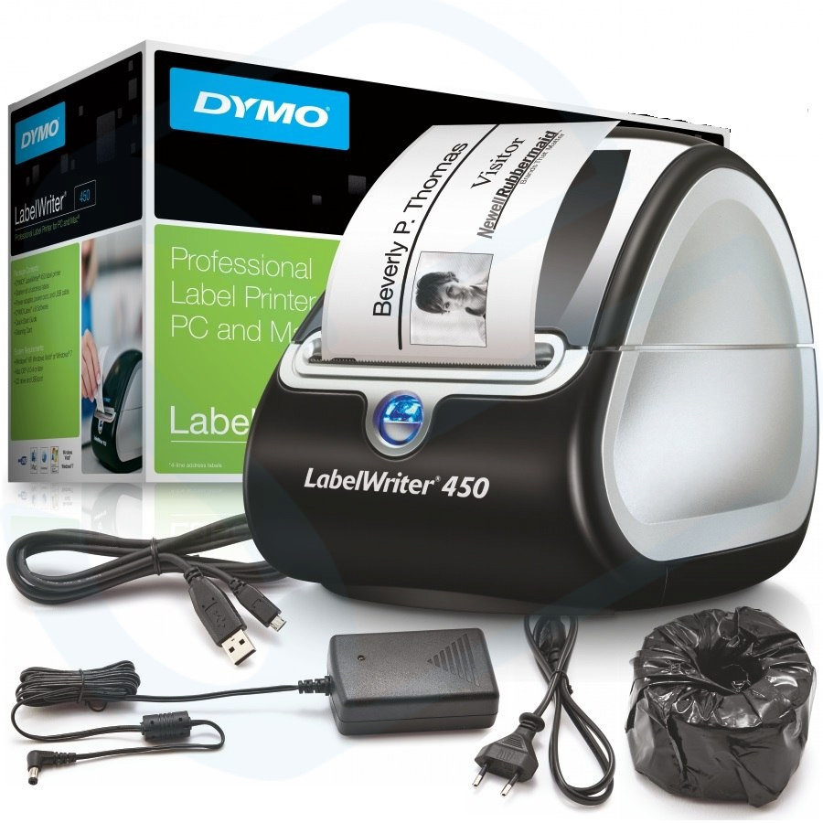 Drukarka etykiet DYMO LabelWriter LW 450 300 DPI szer. do 62 mm | PC: USB