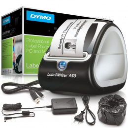 Drukarka etykiet DYMO LabelWriter LW-450 300 DPI szer. do 62 mm | PC: USB